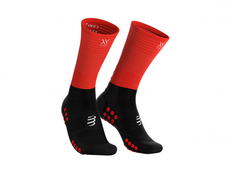 Compressport mid-compression-socks black-red 99RD