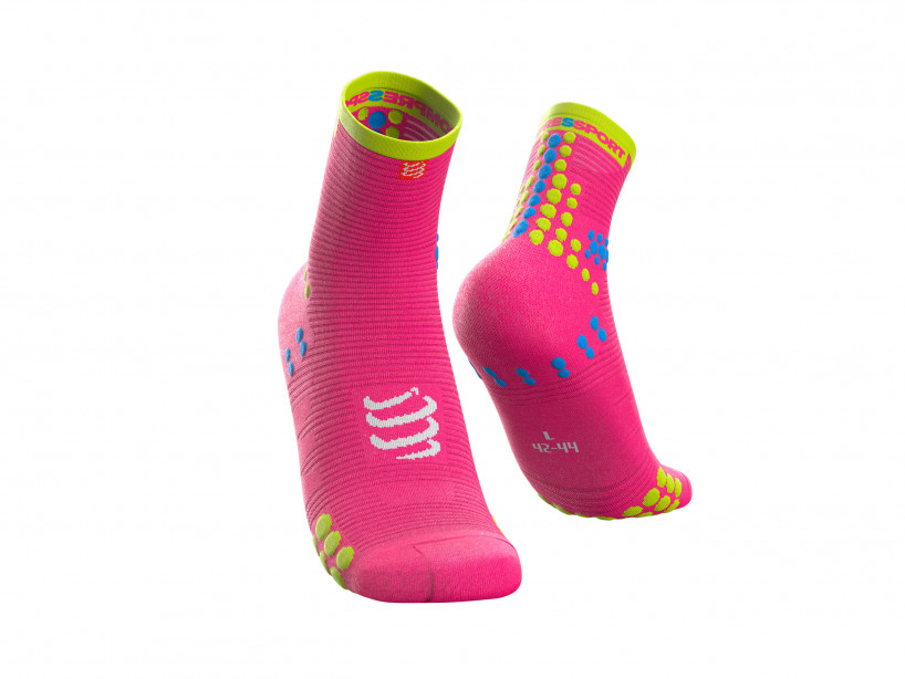 Compressport pro racing sokkar bleikir