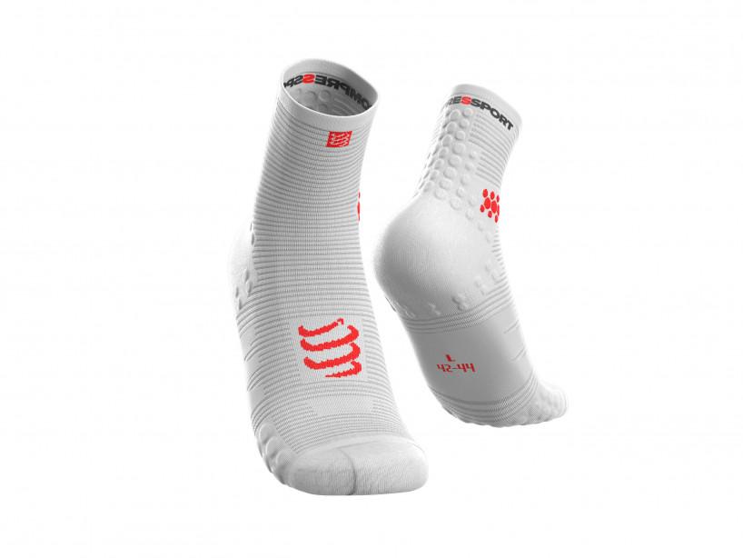 Compressport pro racing sokkar hvítir
