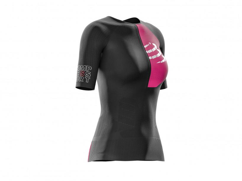 Compressport triathlon t-shirt kvenna svartur