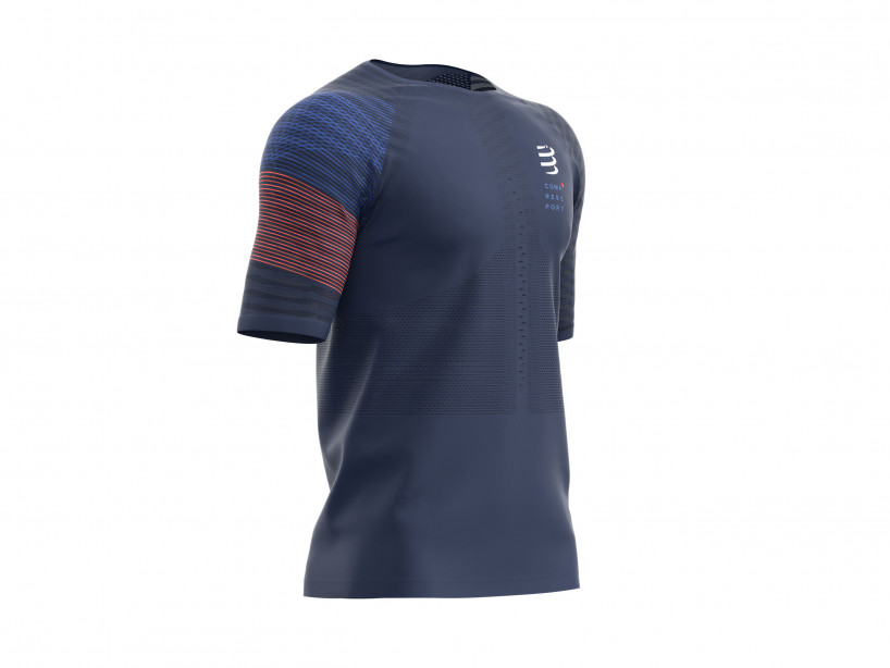 Compressport racing ss t-shirt blue kk