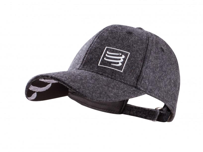 Compressport winter-running-cap wool gray