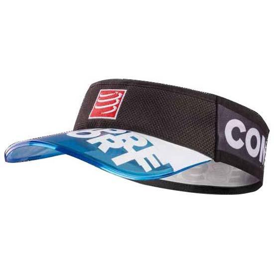 compressport-transparent-visor blue visorv2-glært